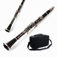 Professional Durable Clarinet Kit Nickel Plated Bb Keys +Care Kit+Backpack+Glove