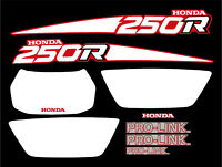 Full set of Decals for a 1988 Honda TRX 250r 4-wheeler    TRX250r 250r  rd/wh