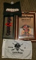 Captain Morgan Lot Bar SignMirror Spiced Rum with Sail Cleats serving tray