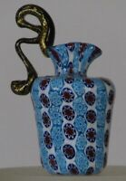 Miniature millefiori Toso Footed Pitcher with handle. Vittorio Ferro