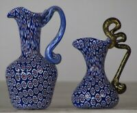 Miniature millefiori Toso Pitcher w/handle. Vittorio Ferro Pair.