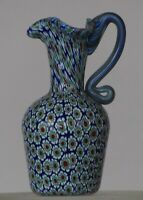 Miniature millefiori Toso Pitcher w/handle. Vittorio Ferro. Complex murrine