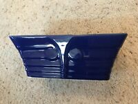 Uncommon Vintage Shawnee cobalt blue rectangular planter marked USA