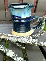 Face Mug Hand Thrown Crafted Stoneware Pottery Mug - Mustache Guard  Unique!!!