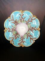 Rare - Antique George Jones 8 well Seashell Shell Oyster Plate - 1860's.