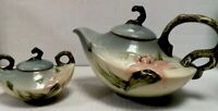 Vintage Signed Hull Art Pottery WOODLANDS  Lily Daffodil W26 Teapot W28 Sugar
