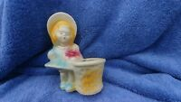 Vintage Shawnee Pottery Planter Girl With Basket USA 534