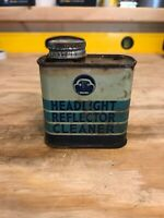Vintage Headlight Reflector Cleaner Tin Can R.M Hollingshed Corp (Not Oil) Whiz?