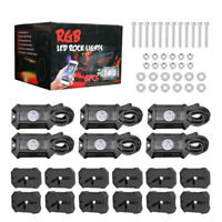 Cree LED RGB Off-road Rock Lights 8 Pods Neon Lamp Under Timing Music Accent ATV
