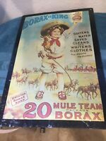 Vintage Borax is King 20 Mule Team Dry Soap Tin Sign 18 X 12