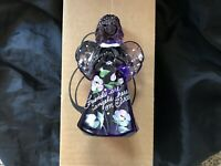 Fenton Handpainted Signed Purple Or Amethyst Glass Angel