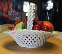 Lanzarin Hand Made Ceramic Fruit Basket Made In Italy