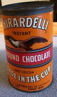Ghirardelli Tin Collectible Sweet Ground Chocolate And Cocoa Can with Lid