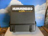 HUMMINGBIRD LCR 4000 PORTABLE FISHFINDER & CASE BUT NO CABLES- GENTLY USED