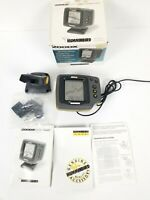 Humminbird 200DX Dual Beam Fish Finder Tested and Working NO POWER CABLE