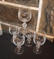 Bohemian Crystal  CASCADE  Lot of 5 beautiful etched crystal FREE SHIP!!