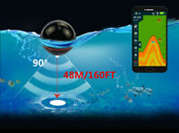 New Fish Finder Portable Wireless Sonar 48M Depth With Attracting Fish lamp XA02