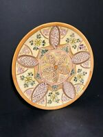 OLD CERAMIC ART POTTERY SIGNED LA FAMILIA CRUZ TOLEDO SPAIN PLATE / DISH 13 1/2