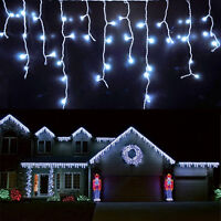 96~960 LED Christmas Fairy String Icicle Curtain Light Outdoor Xmas Connectable