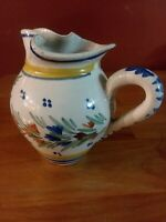 Rare Henriot Quimper France 87 Small Pitcher with Woman 4