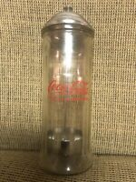 Vintage Coca Cola Straw Dispenser Glass Holder Jar Coke Bottle Soda Drink Diner