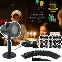 Sunnyglade Holiday Projector Lights with 15 Slides Outdoor and Indoor Landscape