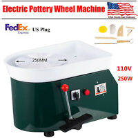 Electric Pottery Wheel Clay Art Pottery Making Equipment Ceramic 110V 250W Green