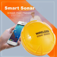 Wireless Bluetooth Sonar Fish Finder Depth Detector Alarm 30M for iOS Android