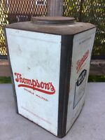 LARGE 25lb Vintage Thompson's Double Malted Milk Can Tin Borden Co. New York