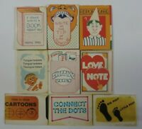 Vintage Lot of 9 Cracker Jack BOOKS NOTEPADS DOTS Games Toys Prize Premiums #9