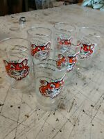 6 - 1960's ESSO EXXON Put A Tiger In Your Tank  drinking glasses 8 languages