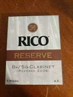 Rico Reserve Clarinet Reed's Size 4.5 by dAddario- Ten boxes!