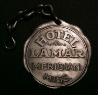 VINTAGE LAMAR HOTEL LARGE HEAVY ROOM KEY FOB - MERIDIAN MISS MS MISSISSIPPI
