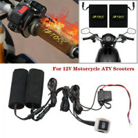12V Motorcycle ATV Heated Grips Handlebar w/ Wires & Switch Heater Kits 30-36mm