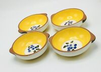 4 Stangl Blueberry Lugged Soup Bowls