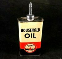 FLYING A TIDE WATER OIL HOUSEHOLD HANDY OILER LEAD TOP Rare Advertising Tin Can