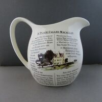 A Place Called Macallan Malt Whisky Water Jug Pitcher Large very nice conditions