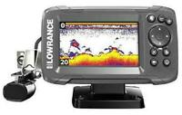 HOOK2 4X 4-inch Fish Finder with Bullet Skimmer Transducer Lowrance