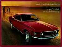 1969 Ford Mustang Metal Sign: Mustang Sportroof Pictured