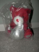 Hersheys Kiss Talking Bear Stuffed Plush 2005 Battery Operated valentines red