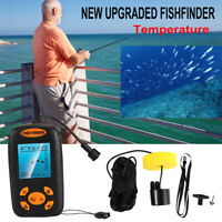 Portable Fish Finder Echo Sonar Alarm Sensor Transducer Fishfinder White LED USA
