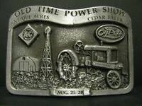 Allis Chalmers Rumely Tractor Pewter Belt Buckle 1988 Antique Acre Steam Show ac
