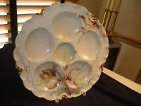 GORGEOUS HAVILAND OYSTER PLATE/DISH/SERVER WITH SEA CREATURE DESIGN.