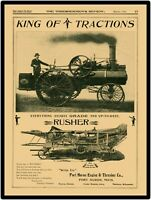 1898 Port Huron Traction Steam Engine New Metal Sign: LARGE SIZE 12 X 16