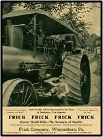 Frick Tractor Steam Traction Engine New Metal Sign: LARGE SIZE 12 X 16