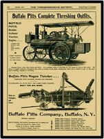 1900 Buffalo Pitts Traction Engine New Metal Sign: LARGE SIZE 12 X 16