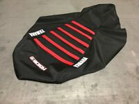 Yamaha Raptor 700 700R Seat Cover fits years 2006 2019 Black Red Ribs #193