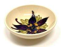 Moorcroft footed bowl - Columbine design