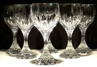 6 BACCARAT CRYSTAL MASSENA WATER GLASSES  ~ SIGNED ~ 7