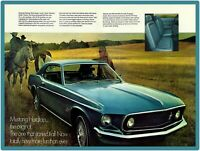 1969 Ford Mustang Metal Sign: Mustang Hardtop Pictured
